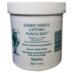 Danny King Catfish Punch Bait Catfish Dough 14 oz - Garlic