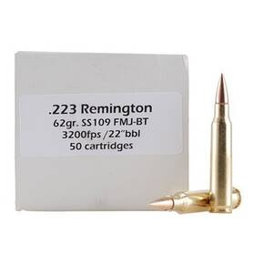 Doubletap Rifle Ammunition .223 Rem 62 gr FMJBT 3200 fps - 50/box