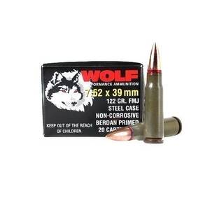 Wolf WPA Polyformance Rifle Ammunition 7.62x39mm 122 gr HP 2936 fps - 20/box