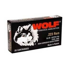 Wolf Military Classic Rifle Ammunition .223 Rem 55 gr HP 3241 fps - 20/box