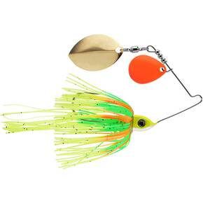 Eco Pro Tungsten Rapid Fire Colorado/Oklahoma Spinnerbait Lure 3/8 oz - Orange Chartreuse