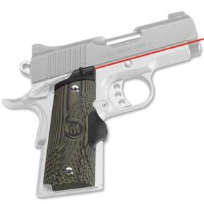 Crimson Trace Master Series Lasergrip - 1911 Officer/Defender/Compact - G10 Green