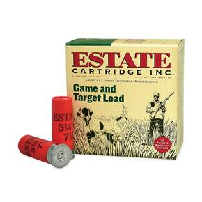 "Estate Cartridge Game & Target Shotshells 12 ga 2 3/4"" 3 1/4 dr #6 25/ct"