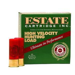 Estate Cartridge High Velocity 12 Gauge 3 Max 1-1/8 #4 25/box