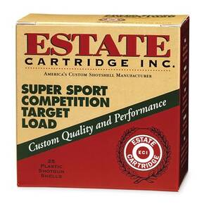 "Estate Cartridge Super Sport 12 ga 2 3/4"" 3 dr 1 oz #8 1235 fps - 25/box"