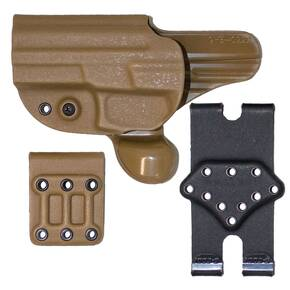 Gcode Combo Holster for Sig Pro 2022 Belt Loop and Paddle with Claw Left Hand Coyote Tan