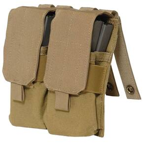 Eagle Molle Style M4 Double Mag Pouch Khaki