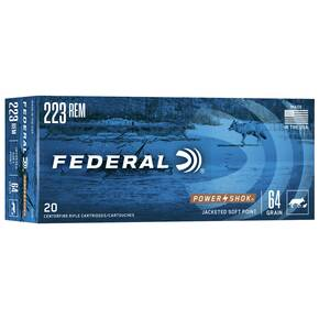 Federal Power-Shok Rifle Ammunition .223 Rem 64 gr SP 3050 fps - 20/box