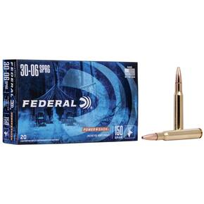 Federal Power-Shok Rifle Ammunition .30-06 Sprg 150 gr SP 2910 fps - 20/box