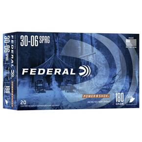 Federal Power-Shok Rifle Ammunition .30-06 Sprg 180 gr SP 2700 fps - 20/box