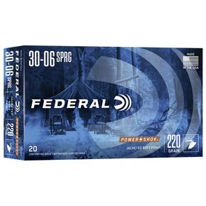 Federal Power-Shok Rifle Ammunition .30-06 Sprg 220 gr SP 2400 fps - 20/box