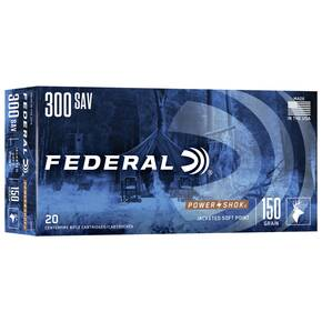 Federal Power-Shok Rifle Ammunition .300 Savage 150 gr SP 2630 fps - 20/box