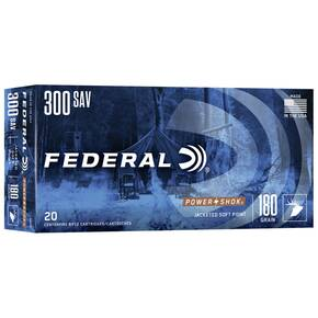 Federal Power-Shok Rifle Ammunition .300 Savage 180 gr SP 2350 fps - 20/box