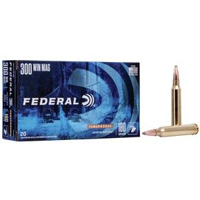 Federal Power-Shok Rifle Ammunition .300 Win Mag 180 gr SP 2960 fps - 20/box