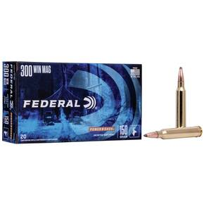 Federal Power-Shok Rifle Ammunition .300 Win Mag 150 gr SP 3150 fps - 20/box