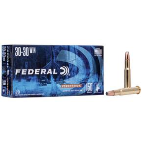 Federal Power-Shok Rifle Ammunition .30-30 Win 150 gr FNSP 2390 fps - 20/box