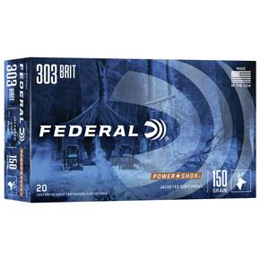 Federal Power-Shok Rifle Ammunition .303 British 150 gr SP 2690 fps - 20/box