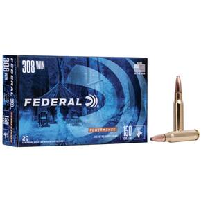 Federal Power-Shok Rifle Ammunition .308 Win 150 gr SP 2820 fps - 20/box