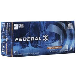 Federal Power-Shok Rifle Ammunition .30 Carbine 110 gr RNSP 1990 fps - 20/box