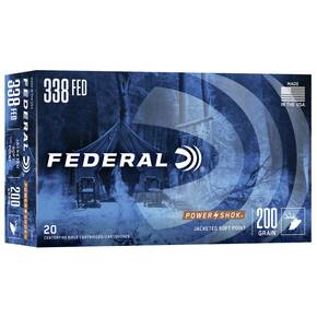 Federal Power-Shok Rifle Ammunition .338 Federal 200 gr SP 2700 fps - 20/box
