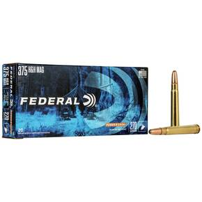 Federal Power-Shok Rifle Ammunition .375 H&H 270 gr SP 2690 fps - 20/box