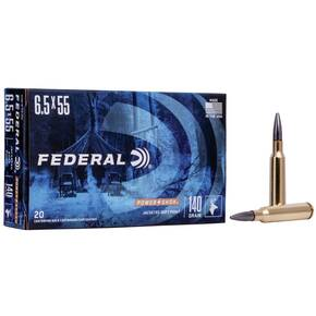Federal Power-Shok Rifle Ammunition 6.5x55mm 140 gr SP 2650 fps - 20/box