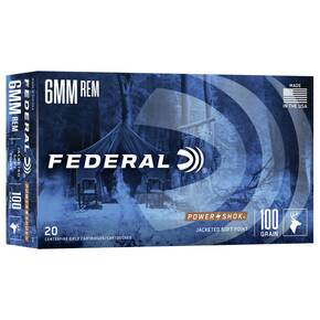 Federal Power-Shok Rifle Ammunition 6mm Rem 100 gr SP 3100 fps - 20/box