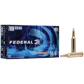 Federal Power-Shok Rifle Ammunition 7mm Rem Mag 150 gr SP 3110 fps - 20/box