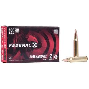 Federal American Eagle Rifle Ammunition .223 Rem 55 gr FMJBT 3240 fps - 20/box