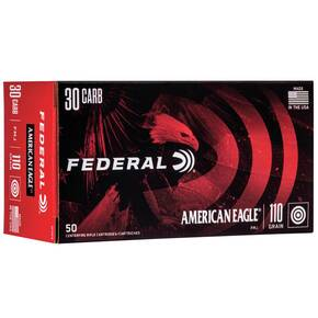 Federal American Eagle Rifle Ammunition .30 Carbine 110 gr FMJ 1990 fps - 50/ct