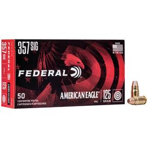 American Eagle Handgun Ammunition .357 SIG 125 gr FMJ 1350 fps 50/box