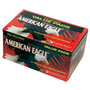 American Eagle Handgun Ammunition .40 S&W 180 gr FMJ 1000 fps 500/ct Case