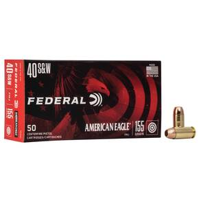 American Eagle Handgun Ammunition .40 S&W 155 gr FMJ 1160 fps 50/ct