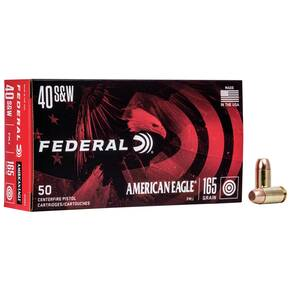 American Eagle Handgun Ammunition .40 S&W 165 gr FMJ 1130 fps 50/ct