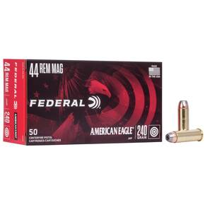 American Eagle Handgun Ammunition .44 Mag 240 gr JHP 1230 fps 50/box