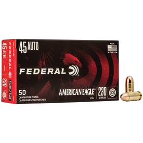 American Eagle Handgun Ammunition .45 ACP 230 gr FMJ 890 fps 50/ct