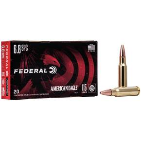 Federal American Eagle Rifle Ammunition 6.8mm SPC 115 gr FMJ 2675 fps 20/Box