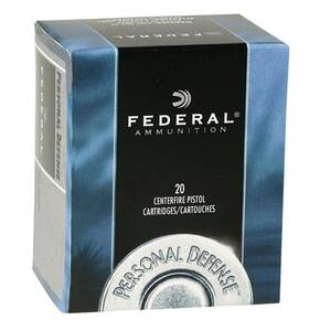 Federal Personal Defense Handgun Ammunition .40 S&W 180 gr JHP 1000 fps 20/box