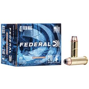 Federal Power-Shok Handgun Ammunition .41 Mag 210 gr JHP 1230 fps 20/box