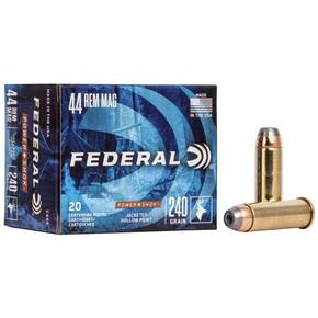 Federal Power-Shok Handgun Ammunition .44 Mag 240 gr JHP 1230 fps 20/box
