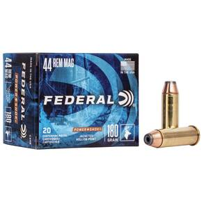 Federal Power-Shok Handgun Ammunition .44 Mag 180 gr JHP 1460 fps 20/box