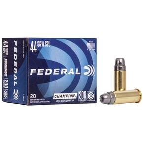 Federal Champion Handgun Ammunition .44 Spl 200 gr HP 870 fps 20/box