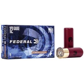 "Federal Power-Shok Rifled Slug 12 ga 2 3/4"" MAX 7/8 oz Slug 1610 fps - 5/box"