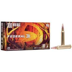 Federal Fusion Rifle Ammunition  .300 Win. Magnum 180gr Fusion 20/Box