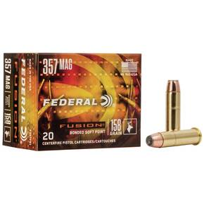 Federal Fusion Handgun Ammunition .357 Mag 158 gr FFSN 1240 fps 20/box