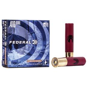 "Federal Power-Shok Rifled Slug .410 ga 2 1/2"" MAX 1/4 oz Slug 1775 fps - 5/box"