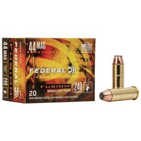Federal Fusion Handgun Ammunition .44 Mag 240 gr FSP 1290 fps 20/box