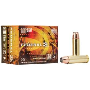 Federal Fusion Handgun Ammunition .500 S&W 325 gr FFSN 1450 fps 20/box