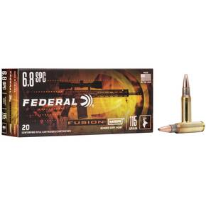 Federal Fusion MSR Rifle Ammunition 6.8mm SPC 115 gr SP 2470 fps 20/ct