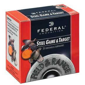 "Federal Field & Range Steel Game & Target Shot Shells .410 ga 3""  3/8 oz #6 25/Box"